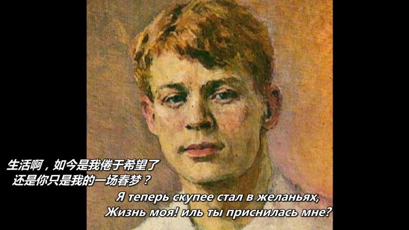 С А Есенин Не жалею не зову не плачу 叶赛宁《不悔恨,不呼唤,不哭泣》