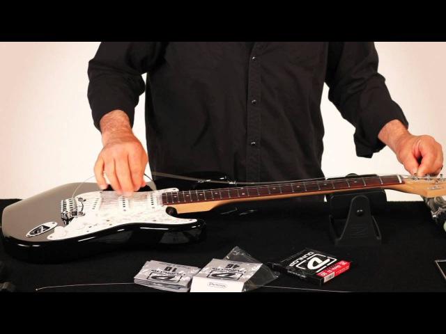 Замена струн на гітары Fender-тыпу