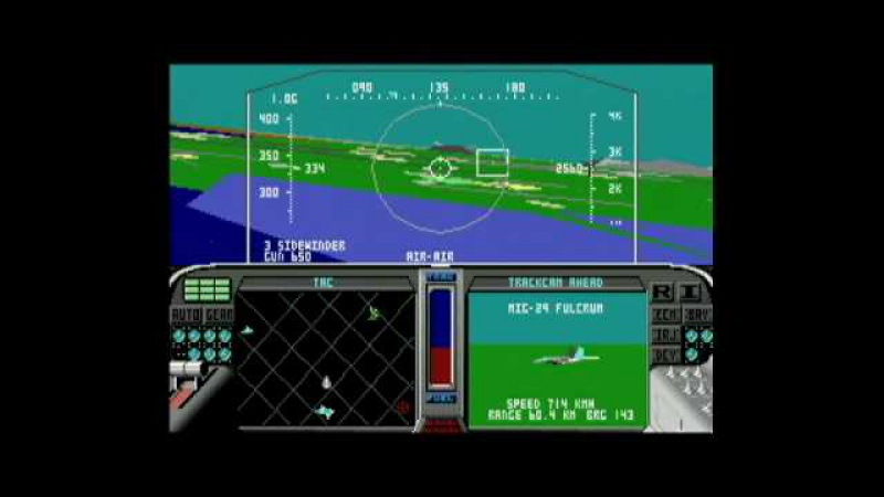 Microprose F19 Stealth Fighter, DOS