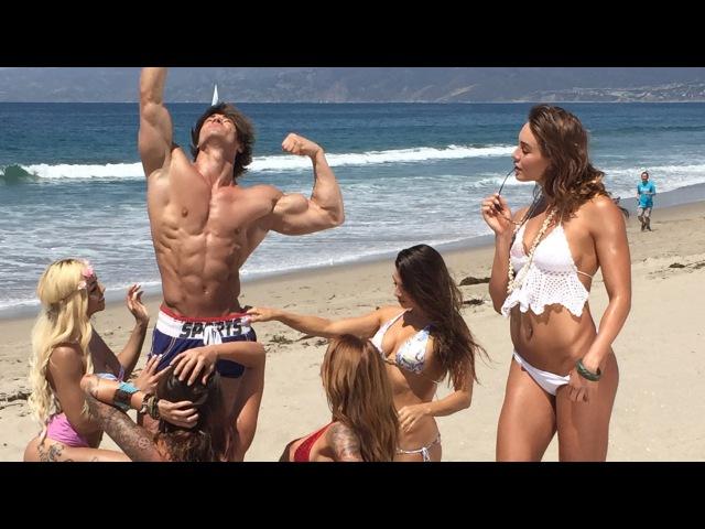 Jeff Seid Iron Man Magazine Cover Shoot Beach Party