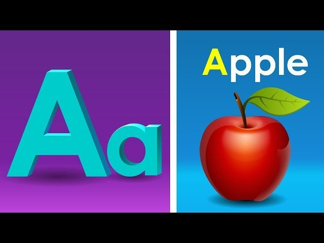 Phonics Song with TWO Words - A For Apple - ABC Alphabet Songs with Sounds for Children