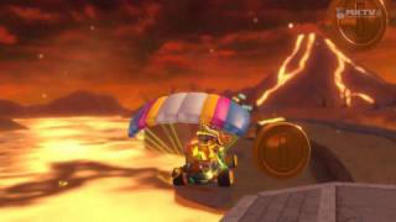 Wii U - Mario Kart 8 - (Wii) Volcán Gruñón