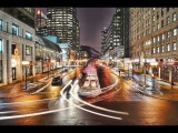 Timelapse Day to Night City Traffic - Sony Alpha 33 DSLR HD.