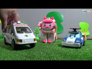 Мультики для детей Машинки Скорая Помощь и Робокар Поли в Городе Машинок Мультфильм - Тики Таки!