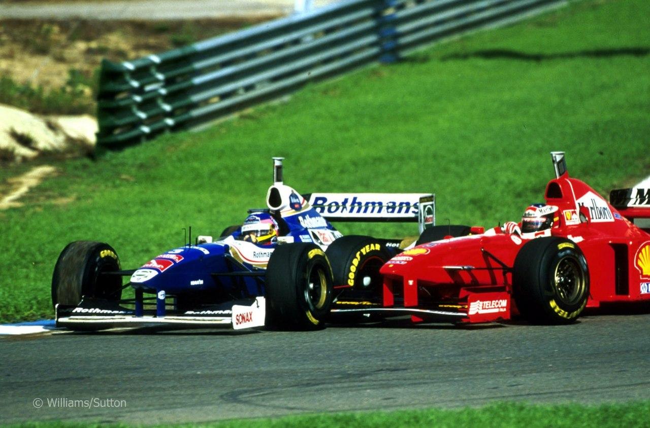 Херес 1997, борьба за титул Чемпиона Мира, Вильнев и Шумахер