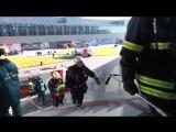 В «Ледовом дворце ВТБ» на юге Москвы прошли пожарно-тактические учения МЧС