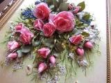 Часть 2. Еmbroidery ribbons. Детали вышивки лентами. Оксана Коротич. Цветы, птицы, розы, подсолнухи.