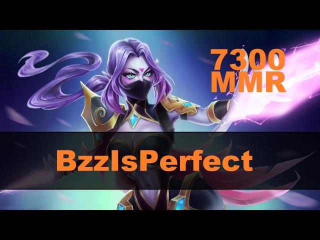 BzzIsPerfect (7300 MMR) играет на Templar Asassin