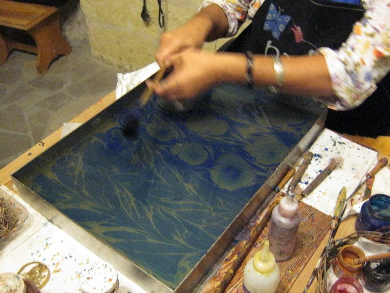 рисования на воде по-турецки