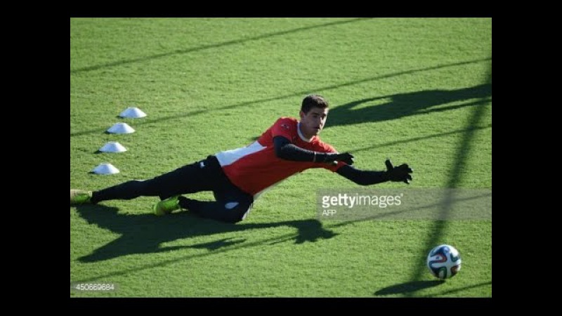 Goalkeeper training - Thibaut Courtois training ( Chelsea and the Belgium national team)