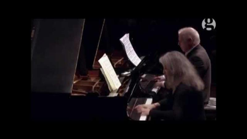 Моцарт Соната для 2 ф-но Ре мажор /K448/ М. Аргериx/Д. Баренбойм. Martha Argerich and Barenboim 2015, Mozart's Sonata K448 in D