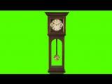 Old Clock and Pendulum Ticking - Green Screen Animation
