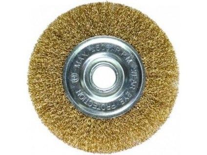 Щетка для УШМ, плоская металлическая   SPARTA
