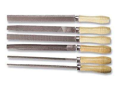 Набор напильников и рашпилей, деревянные рукоятки, 3 + 3 шт.   SPARTA