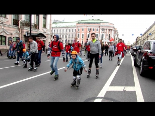 Роллер-пробег в Санкт-Петербурге посвященный 70-летию победы в Великой Отечественной войне