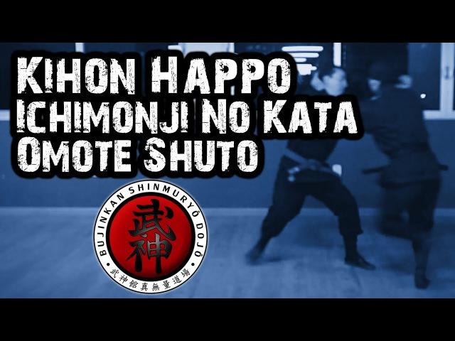 Ninjutsu | Kihon Happo (Koshi Kihon Sanpo No Kata) - Ichimonji No Kata - Omote Shuto (Gyokko Ryû)