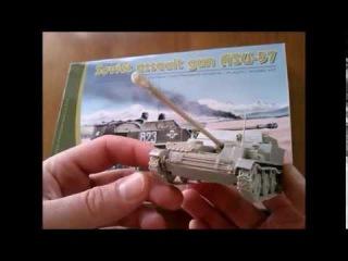 Стендовый моделизм Сборка модели АСУ-57 масштаб 1:35 от Parc Models/scale model of the ASU-57