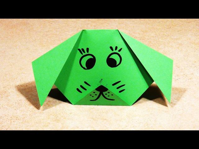 Оригами для детей. Собачка оригами для детей.