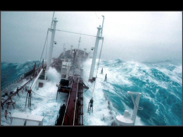 Большой корабль плывет в шторм 9 12 баллов
