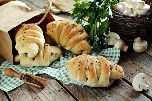 Постные пирожки с грибами рецепт