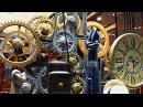 Часовой механизм. Шестеренки. Футажи для видеомонтажа. Механизм часов. Шестеренки видео