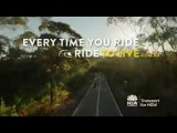 Motorcycle Ride to Live: Recreational rider. 15 seconds – Rural intersection