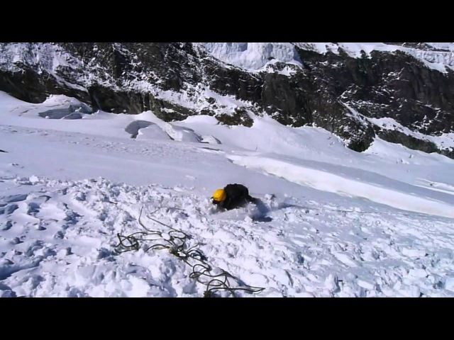 Как трудно удержать человека провалившегося в ледниковую трещину.