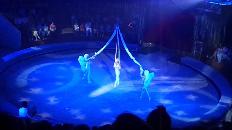 Королевский цирк Гии Эрадзе Баронеты Ангелы Воздушная гимнастка на полотнах