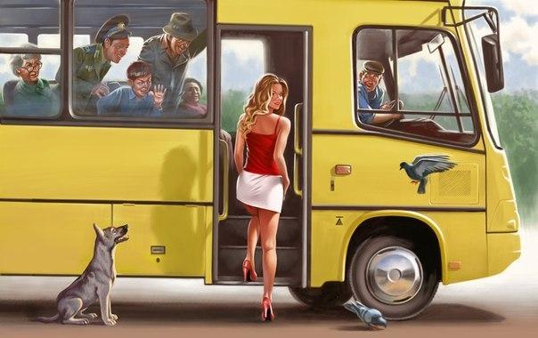 Троллейбус, лето, жарко...