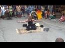 Christian jyoti's show in Mirepoix; Festival de la marionnette: 5 aout 2012. mp4
