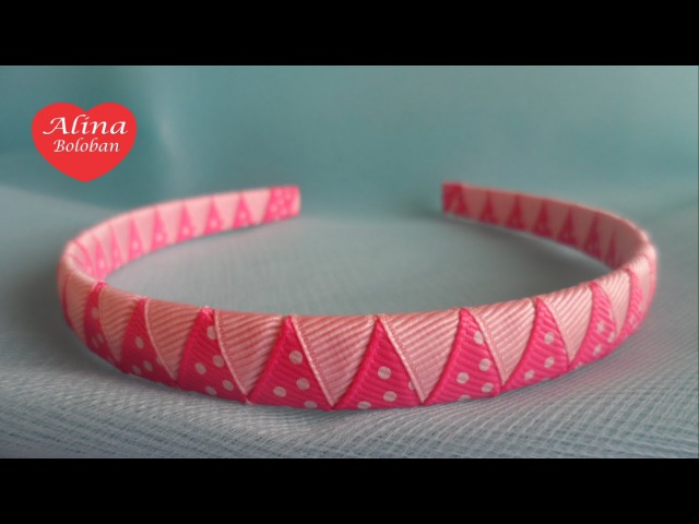 Оплетание Ободка Двумя Лентами . Мастер Класс для Начинающих / DIY. Braided Headbands two ribbons