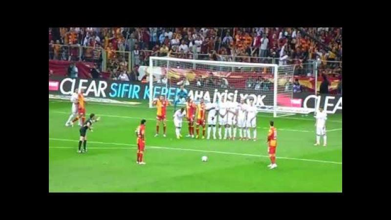 Selçuk İnan'ın Sivasspor'a Attığı Frikik Golü Tribün Çekimi