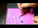 Учимся китайке рисуем цветы Василек 1 урок 2 часть Дизайн ногтей