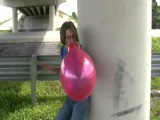 sexy looner girl playing with balloons 40)