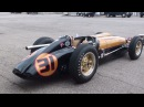 Vintage Racing 1950s Indy Cars startup and race LOUD