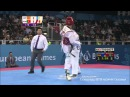 TORTOSA CABRERA ESP BRAGANCA POR FINAL MEN'S 58kg TAEKWONDO WTF BAKU 2015 EUROPEAN GAMES
