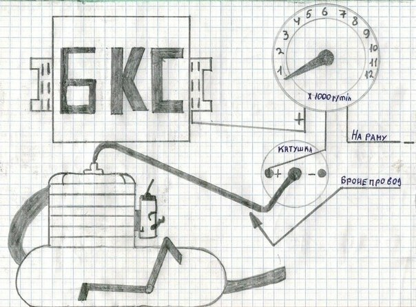 схема подключение тахометра на иж