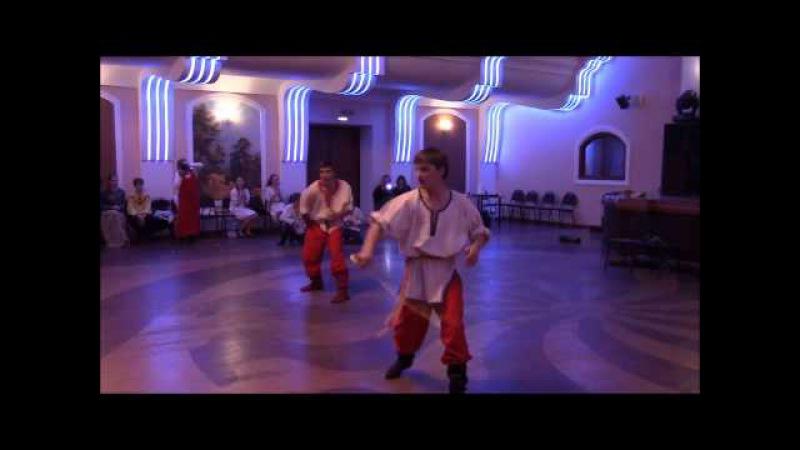 Сильнейший танец с саблями на русской Вечёрке! Добрыня и Вежа