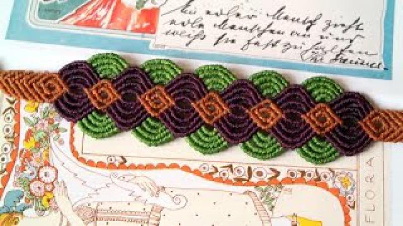 A Colorful Macrame Bracelet