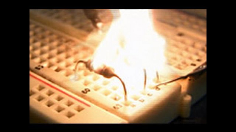 Exploding electronic components in HD