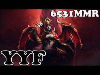 Dota 2 - YYF 6531 MMR Plays Queen Of Pain vol 1 - Ranked Match Gameplay