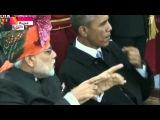 Индия Обама жует жвачку в прямом эфире Новости Сегодня 26 Января 2015 г