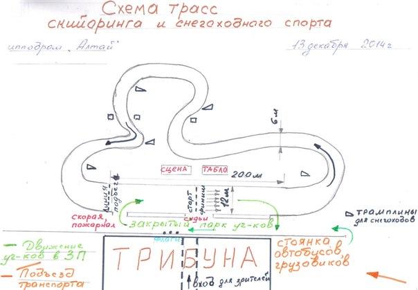 Предварительная схема трасс