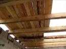 Видео как построить перекрытие по деревянным балкам.