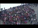 Flash-Mob Флэш Моб на Воробьёвых Горах TACO Puttin on the ritz remix