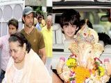 Ganesh Visarjan 2014: Bang Bang actor Hrithik Roshan bids farewell to Lord Ganesha with family