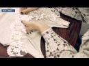 Как декорировать майку кружевом и бусинами