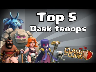 Clash of clans - Top 5 Dark troops! (8 bit edition)