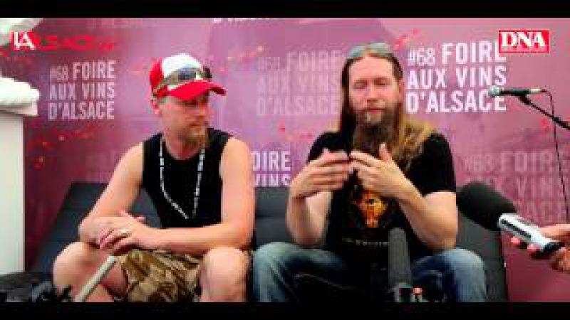 Extraits de la conférence de presse d'Ensiferum à la Foire aux Vins d'Alsace