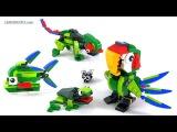 LEGO Creator Rainforest Animals - All 3 builds! set 31031